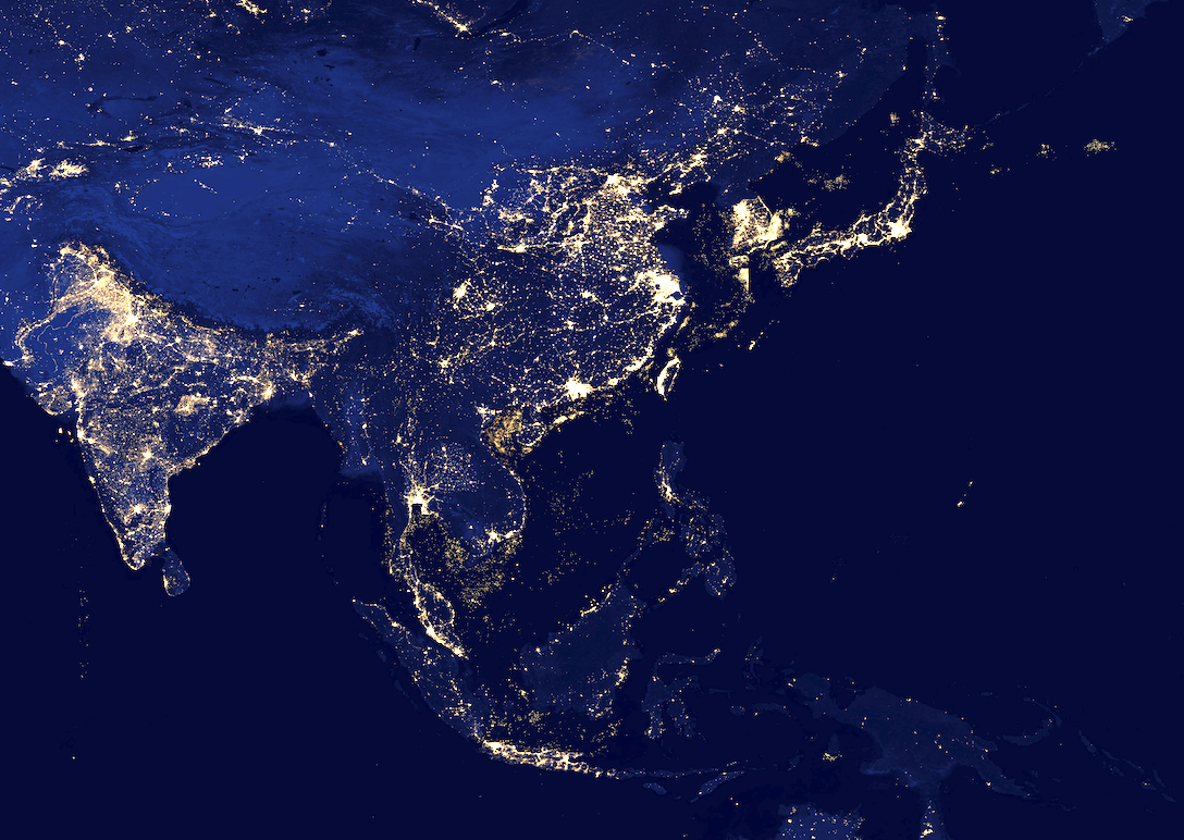 south-east-asia-at-night